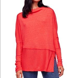 Free People londontime thermal orange red
